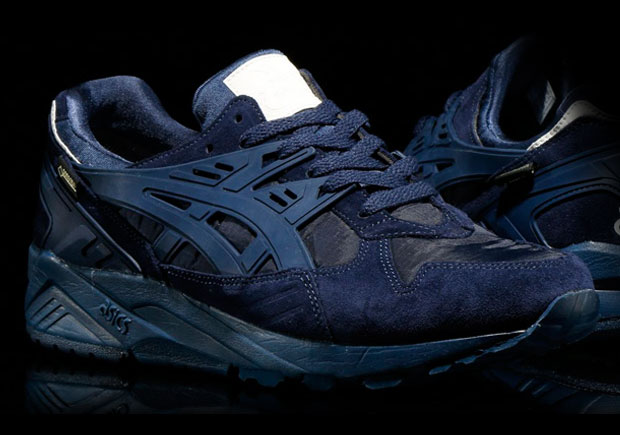 blue asics trainers