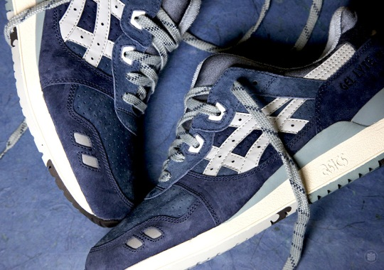 """A Detailed Look at the J.Crew x ASICS GEL-Lyte III """"Ribbon Blue"""""""