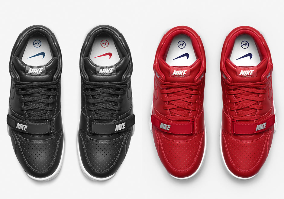 newest 3623c 2eee7 A Detailed Look At The 2 New fragment design x Nike Air Trainer 1s Revealed  Today