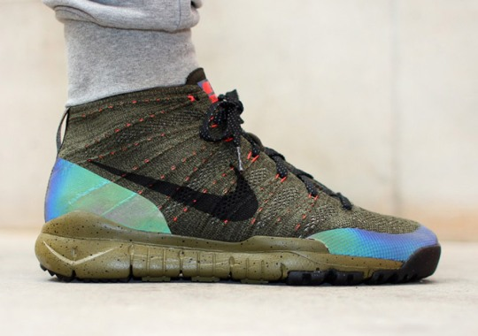 Nike's Iridescent Obsession Continues On This Fall-Ready Flyknit Chukka