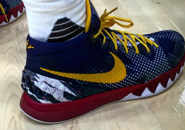kyrie irving broke out some awesome nike kyrie 1 pes for