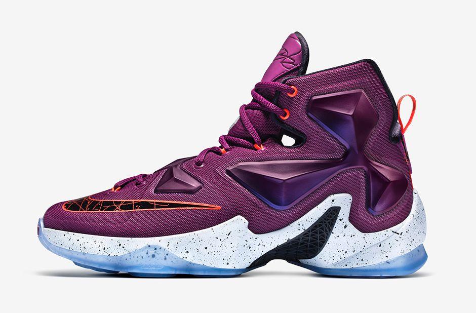"promo code 6031b 0a28d Nike LeBron 13 ""Written in the Stars"". Color  Mulberry Black-Pure Platinum-Vivid  Purple"