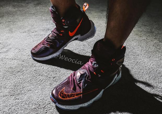 on sale 5edca d40bc ... Here s What The Nike LeBron 13 Looks Like On Feet - SneakerNews.com ...
