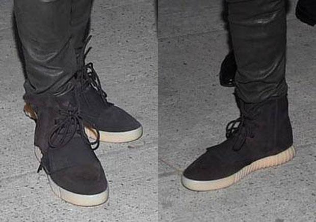 4b5a45265db7f Kanye West Wears Yeezy Boost 750