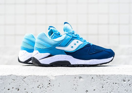 The Saucony Grid 9000 In a Refreshing Two-Tone Blue Colorway