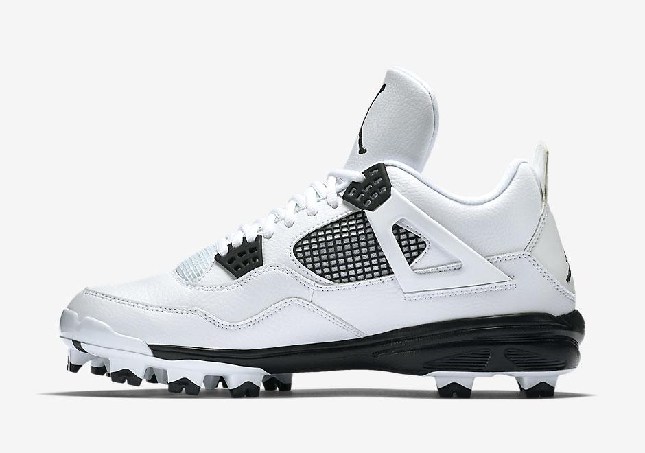 half off c5860 cf4b8 Air Jordan 4 MCS Cleats. Color  White Black Style Code  807709-110. Price    95