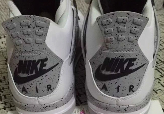 """First Look At The Air Jordan 4 """"White Cement"""" With Nike Air For 2016"""