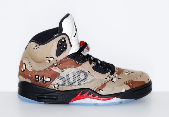 "Supreme x Air Jordan 5 ""Camo"" To Release On NikeLab.com"