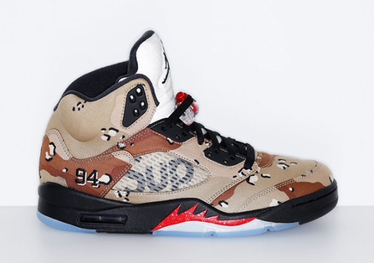 "Supreme x Air Jordan 5 ""Camo"" To Release On NikeLab.com"