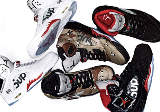 The Supreme x Air Jordan 5 Collab Is Dropping Sooner Than You Think
