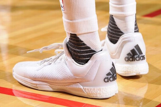 James Harden S Latest Adidas Crazylight Boost 2015 Is Too Clean Sneakernews Com