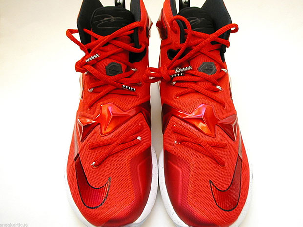 low cost 494fd 7d0ce ... canada nike lebron 13 home. color university red white black laser  orange style code 807219