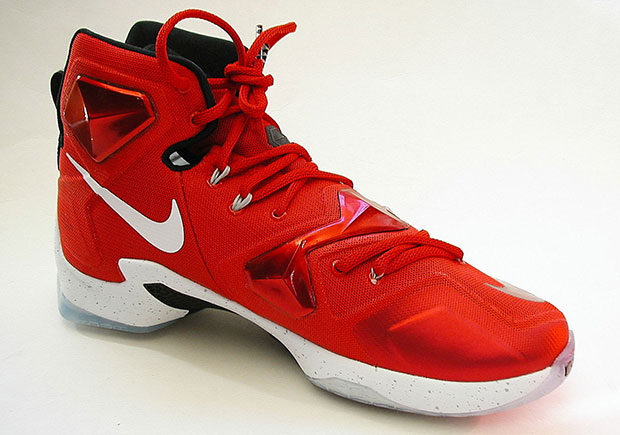 "93016a14d518 Nike LeBron 13 ""Home"". Color  University Red White-Black-Laser Orange"