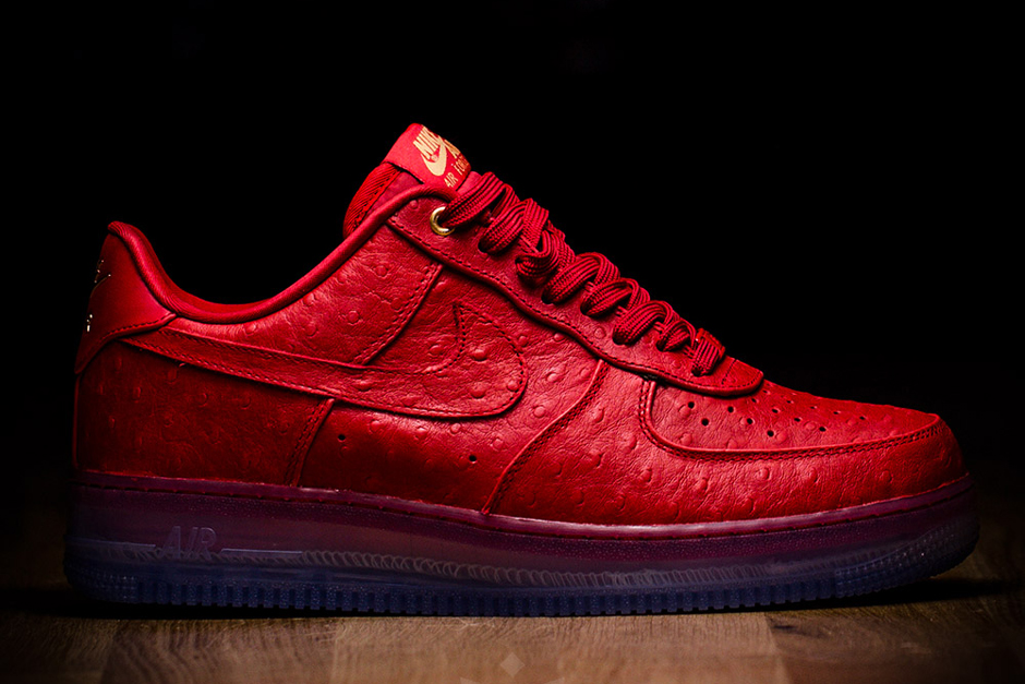 Red Ostrich Uppers On The Nike Air Force 1 - SneakerNews.com 652f5001a4