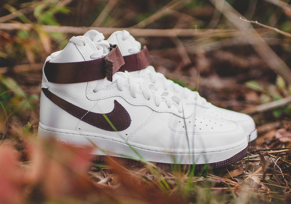 Nike Air Force 1 High Top Brown