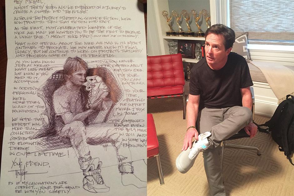 Michael J. Fox - nike mag 2015 power lacing