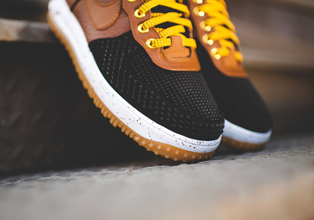 e4f41a98bbb5 Nike Lunar Force 1 Duckboot. Color  Black Light British Tan-Gold Dirt-White  Style Code  805899-004. Price   165