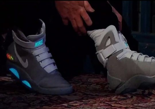 Michael J. Fox Wears The Nike Mag On Jimmy Kimmel Live And Shows The World Power-Lacing Technology