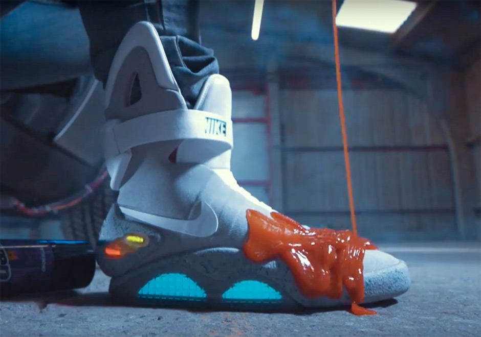hot sale online b91e0 52389 Watch Nike Mags Almost Get Ruined By Ketchup
