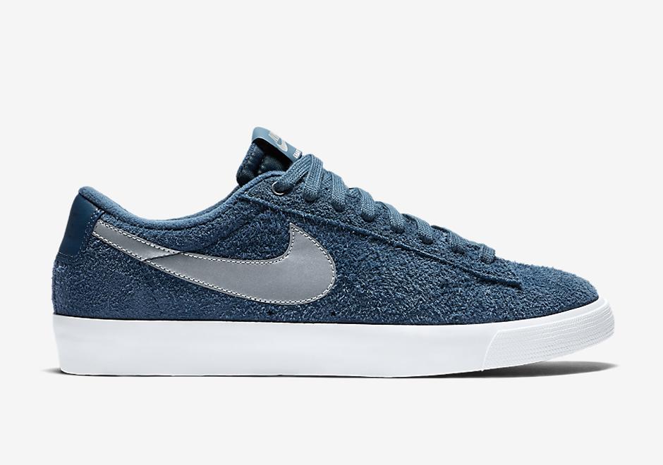 Nike Blazer Lav Premie Lær Trenere Joggesko KEH9q