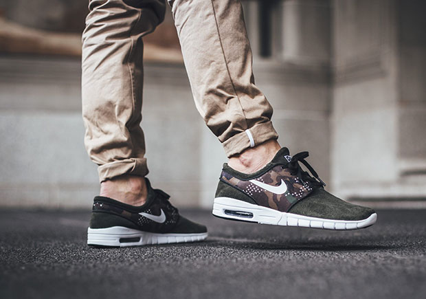 The Stefan Janoski Max Loses Its Mesh and Suits Up in Camo and Suede For  Fall aa19b3675