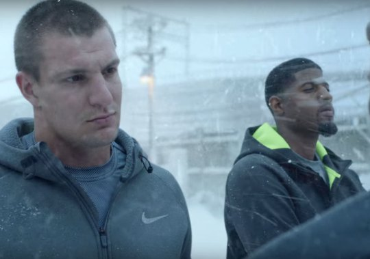 Rob Gronkowski, Paul George, And More Nike Athletes Come Out For Snow Day