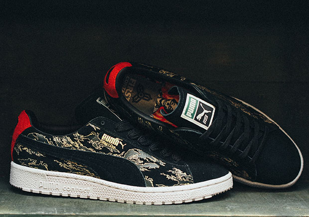 buy online 6daf4 3920b mita Sneakers and PUMA Team Up With SBTG for Camo Clydes ...