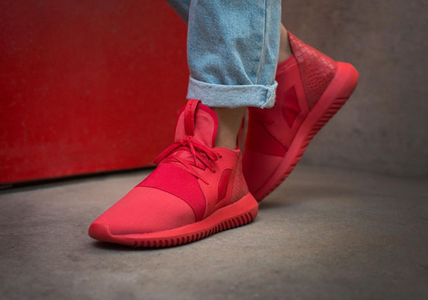 newest collection bb6ac e0c09 A Defiant Red On The Newest adidas Tubular Model