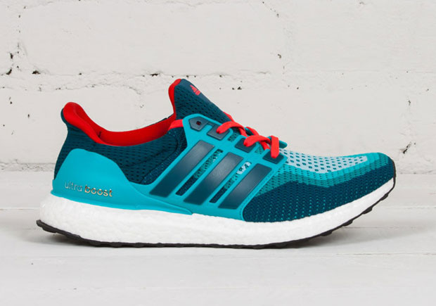 adidas Ultra Boost In Teal And Red