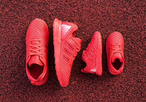 815d7ac63 adidas Brings All-Red For Adults And Kids With The ZX Flux ADV -  SneakerNews.com