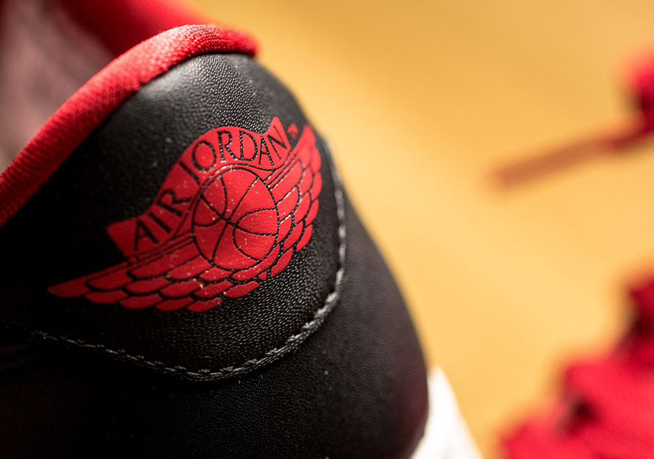 Aire Nike Jordan 1 Bajo Negro Rojo Og 2z9Oq