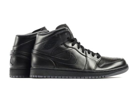 Air Jordan 1 Mid In Black/Grey Hits Stores