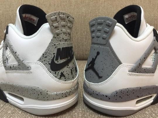 """Nike Air Vs. Jumpman: A Quick Comparison Of Two Air Jordan 4 """"White/Cement"""" Retros"""