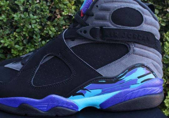 "The Air Jordan 8 ""Aqua"" Arrives On Black Friday"