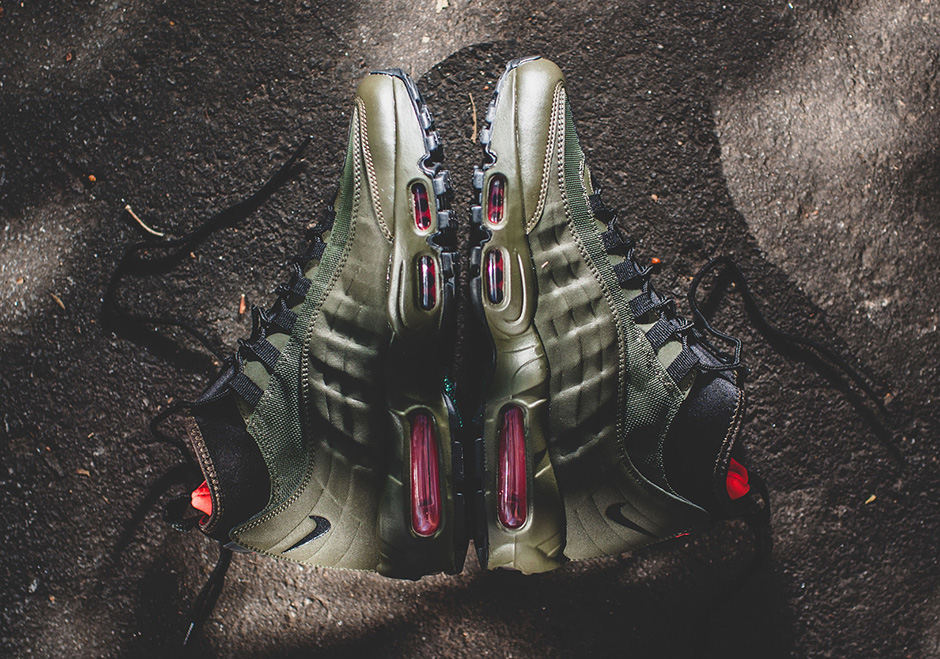 Shop Authentic Nike Air Max 95 SneakerBoot Dark LodenCargo