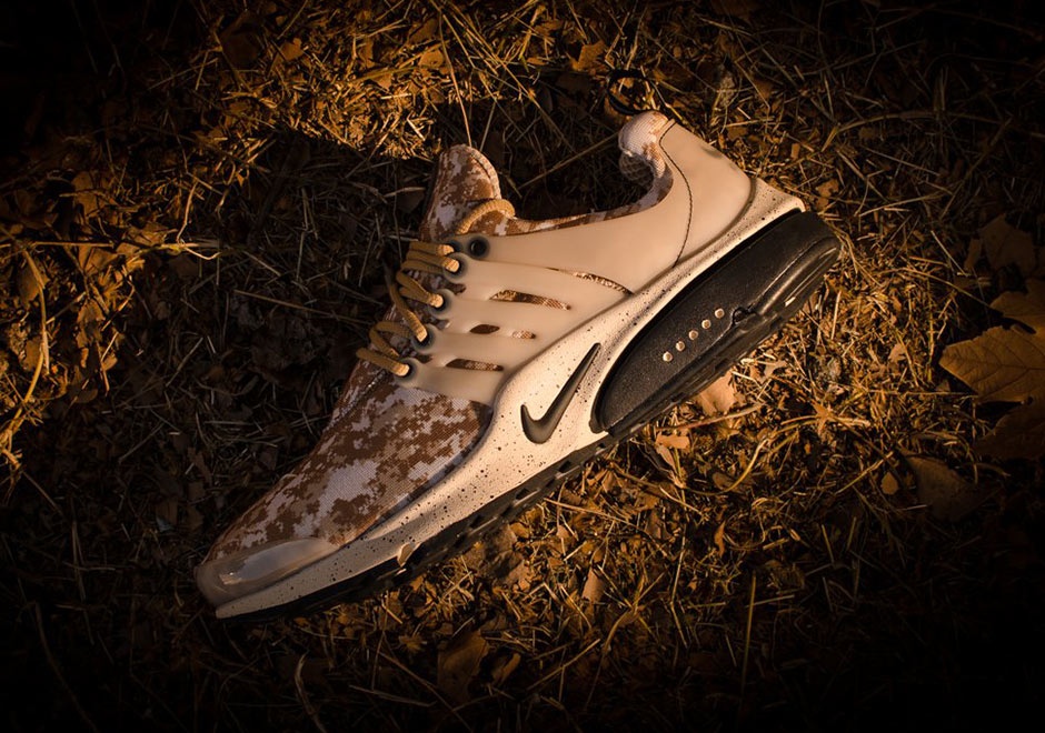 "57bd442689f5 ... Oregon giant has created another solid colorway of the re-installed Air  Presto for your daily rotation. Out of the trenches comes a ""Desert Digi- Camo"" ..."