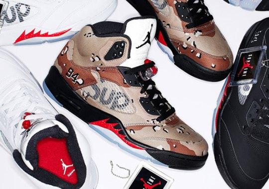 "Supreme x Air Jordan 5 ""Camo"" Restocked On NikeStore UK Today"