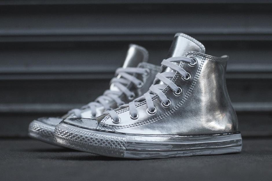 converse chuck taylor silver metallic