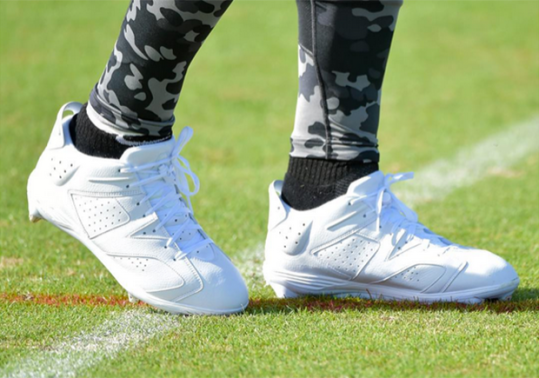 Dez Bryant Shows Off All-White Air Jordan 6 Cleats