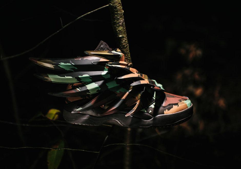 best website 1e2d8 e3290 Jeremy Scott x adidas Wings 3.0 Camo  SneakerNews.com