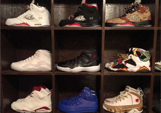 Joe Haden's Got Quite The Impressive Air Jordan Shelf Storage Right Now