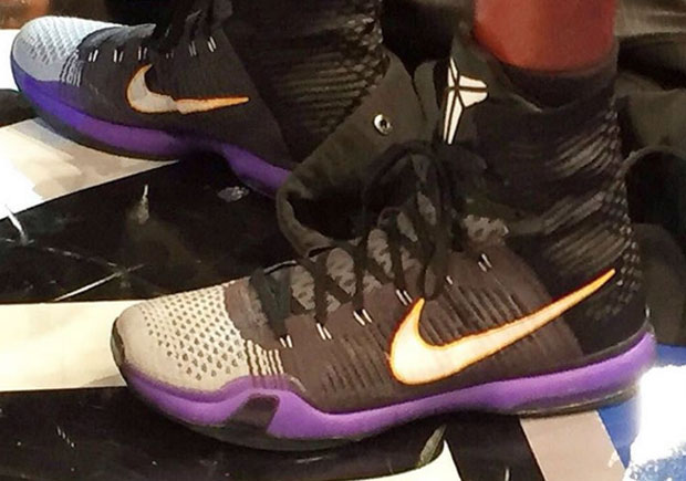 finest selection dd861 30d01 Kobe Bryant Wears A New Kobe 10 Elite PE For Potential Final Game At MSG