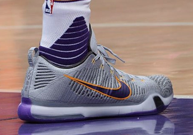 premium selection 69f9e a7abd Kobe Bryant Debuts A New Nike Kobe 10 Elite PE On Night Of His Announcement