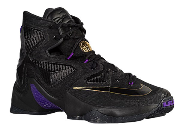 "check out 60ae5 23a5f Originally thought to be a ""BHM"" release, this Nike LeBron 13 in a regal  blackpurplegold is actually a Black Friday weekend release."