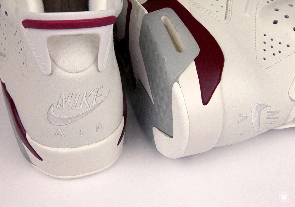 new style 1a1dc 45e5a Air Jordan 6 Maroon   SneakerNews.com