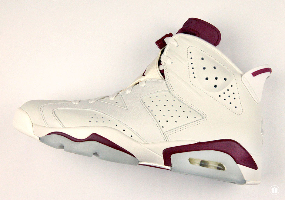"1894433f5a9e87 Air Jordan 6 ""Maroon"". Color  Off White New Maroon"