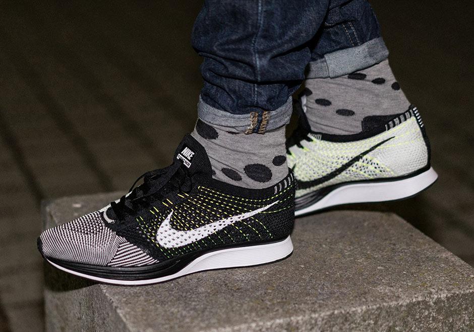 Nike Coureur Flyknit Blanc Ukm Noir Volts n6Jl1