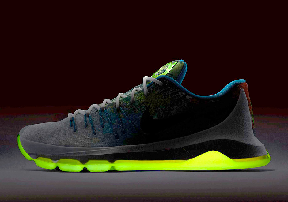 "best website b3da2 17792 The Nike KD 8 ""N7"" Glows In The Dark"