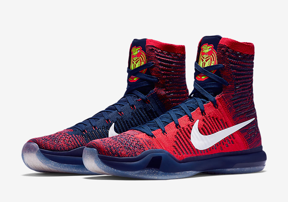 brand new d70a3 a6622 Patriotic Themes Mix In With The Nike Kobe 10 Elite ...