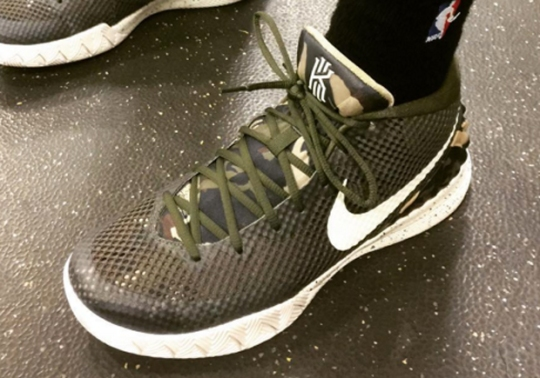 "Kyrie Irving Honors Military With Nike Kyrie 1 ""Camo"""